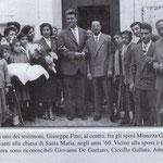 Anni '60 Foto ricordo degli sposi Minuzza Gallina e Antonio De Gaetano
