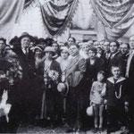 1935 foto alla Portella degli sposi Guglielmo Antenore e Rosa de Rosis, figlia di don Nicola De Rosis(foto di R.Liguori)