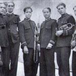 Anni '30 alcuni componenti della banda musicale(da sx Edoardo Polino, Luigi Fino, Alfredo Amodio e Antonio De Bartolo)