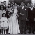 1958 Le nozze di Rita Tornello e Giorgio Terzi (davanti la chiesa di S. Francesco)