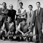 da sx in piedi - P.Benvenuto, don Flaminio Ruffo, Scaramuzzo, G.Miele, F.Persiani; accosciati da sx- Scaramuzzo e Salimbeni