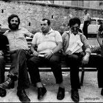 1981 Compagni (il 2° a sx l'indimenticabile sindaco Gabriele Meligeni)