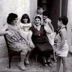Anni '70 da sx Emma Loi,Loredana Bruno,Giulia Zangaro,Elena De Patto,Lucia Docimo e Giulia De Patto