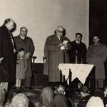 Anni '40 - Serata di beneficenze al Teatro Comunale(nella foto, Raffaele Mazziotti e Giovanni Tedesco)