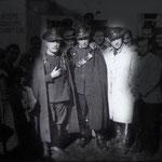 Anni '30 in piazza del Popolo(all'acquanova) da sx Luigi Ventura, Giuseppe Meringolo e Vincenzo Candia
