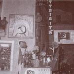 Fine anni '50 - Comizio di Gigino Passerini del PCI in Piazza del Popolo (all'Acquanova) Sulla sua dx On. Bruno, a sx il padre Antonio