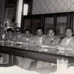 1956 Consiglio comunale da dx, Giovanni Leonetti, ??, Giorgio Barone, Ritacco, ??.Alessandro Cofone...