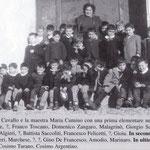 1962 La maestra Maria Cumino con i suoi alunni della I elementare
