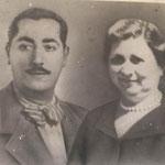Elvira Alba de Rosis e il marito, Silvio Alice (f.to di A. Alice)