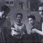 1946 Sartoria dei fratelli Ortale. Da sx,Leonardo Romio,Giovanni Romio, Antonio Morrone e Francesco Vulcano (foto di G.Romio)