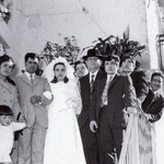 1971 Le nozze di Giorgio e Ida Cimino. (Via Isonzo-rione S. Giovanni)