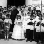 Fine anni '50 Prima Comunione(tra gli altri, G. Grillo; Padre F. Romano; I. Ceo; L.Casciaro; T.Pagnotta; D.Salatino; S.Grillo; F.Grillo; C.Romio; A.Grillo; A.Orlando; S.Reale; M.Calabrò; S.Visciglia)