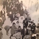 Anni '60- Corteo nuziale degli sposi Epifanio Santella ed Emilia Forciniti