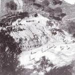 Anni '60 'a fossa , il nostro grande Stadio. In alto si vede La Santa Croce