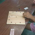 木工教室で時計をつくります