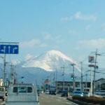 打合せにて 伊吹山を滋賀県側から望む