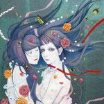 花に嵐の F10 個人蔵/Sold