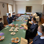 The celebration party for Sr.Sabine (Sr.Sayuri Konishi)'s 40th anniversary being a deaconisse.