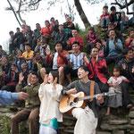 ネパール ラプラック村にて 『Nda nahan』MV撮影シーン  2016.10