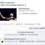 Nick Howard auf Facebook