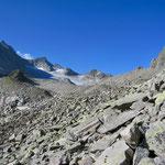 Der erste Blick auf den Gletscher