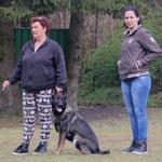 Quisha Chenna met eig. Jolanda Siep en dochter Roxanne