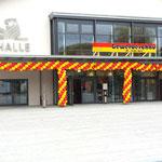 """Gewerbeschau Bräunlingen 2015 Halleneingang """"nachher"""""""