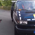 Ein Marder hat sich in ein Auto verirrt. 04.07.2014