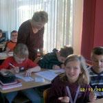 Die Lehrerin ist gespannt...