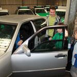 eine gepanzerte Limousine - die Tür war ziemlich schwer