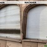 Vorher, Nacher, Meixner Fensterputzer, Rolloreinigung