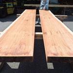 製材した板はさらに乾燥させます。