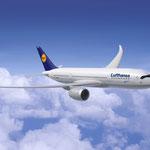 Das neue Flugzeug Airbus A350 XWB (Extra Wide Body) [Quelle: Airbus].