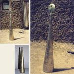 porte du coeur, 120 cm, bronze