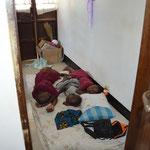 Schlafen in meinem Wohnzimmer