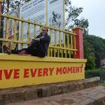 Live every moment  - am Ursprung des Nils