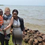 mit Madrine und ihrem Sohn Jonny Marie