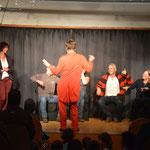 Pantomime JOMI hat das Publikum in seine Show mit einbezogen