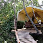 Luxuriöses Zelt mit Himmelbett und WiFi im Tsitsikamma National Park