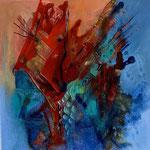 Ohne Titel 1, 2020, Acryl auf Leinwand, 40 x 40 cm