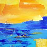 Spuren, 2019, Acryl auf Leinwand, 60x60cm