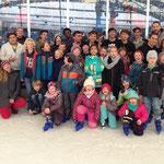 Gemeinsames Eislaufen in Chemnitz