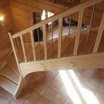 Artisan concepteur : Escalier avec balustres bois et métal. N°16