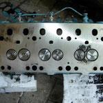 Zylinderkopf geplant und neue Ventile verbaut