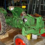 Er sollte restauriert gewesen sein, einfach übergespritzt., hier ist der defekte Motor noch verbaut.
