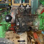 Der Motor vom Ersatzteilspender kompl. verbaut