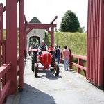 Ausfahrt nach Aufenthalt in der Burganlage Bourtange/Niederlande