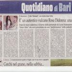 Quotidiano di Bari, articolo di Vinicio Coppola