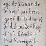 Tombe du soldat Français dans le cimetière civil