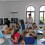 Jutta Wilke und Anja Frieda Parré begleiteten die jungen AutorInnen in dieser Woche!